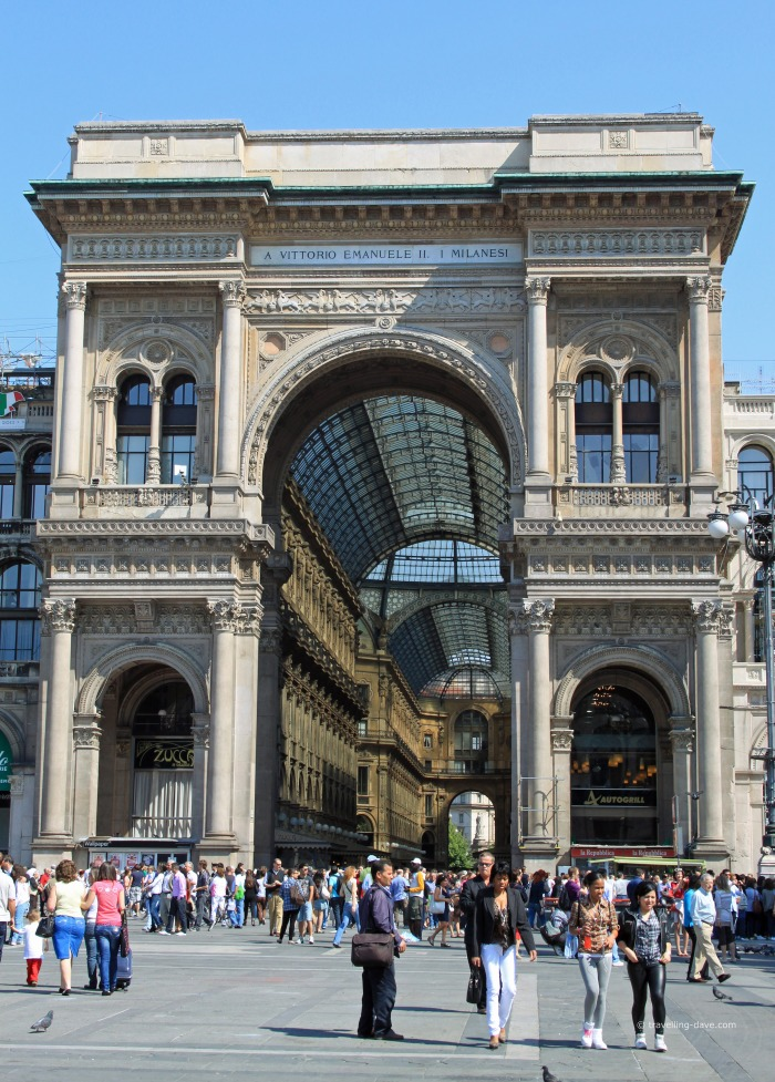 View of the Triumphal Arch in Milan
