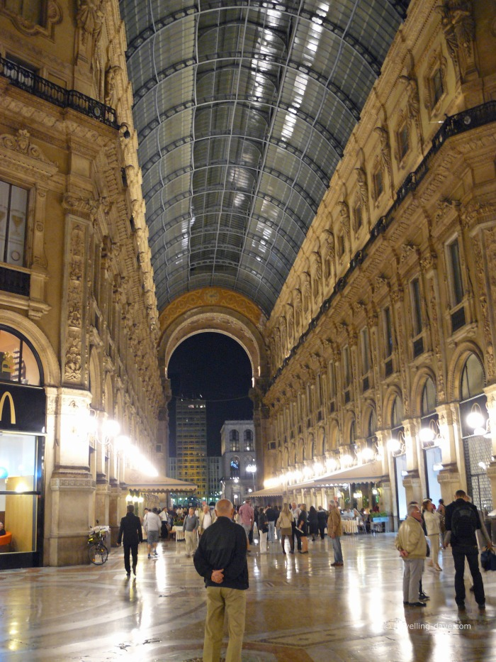 Evening at Galleria Vittorio Emanuele II in Milan