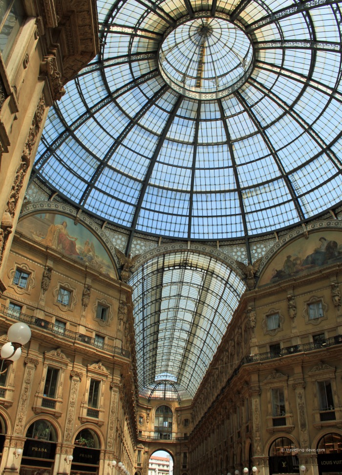 The glass ceiling of Milan's Galleria