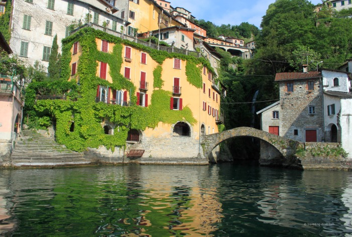 View of the village of Nesso in Italy