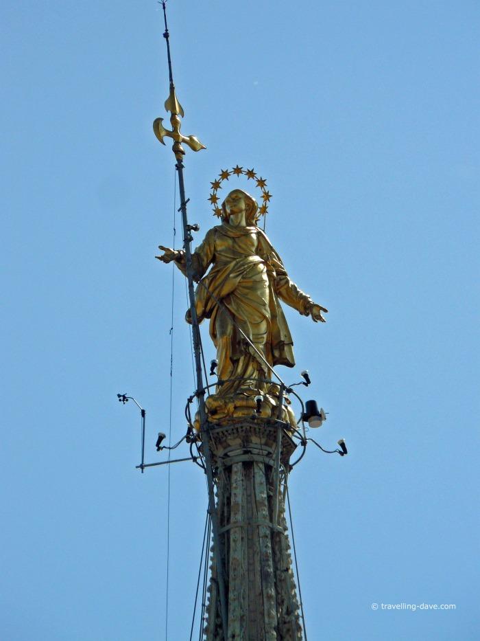 Milan famous Madonnina statue