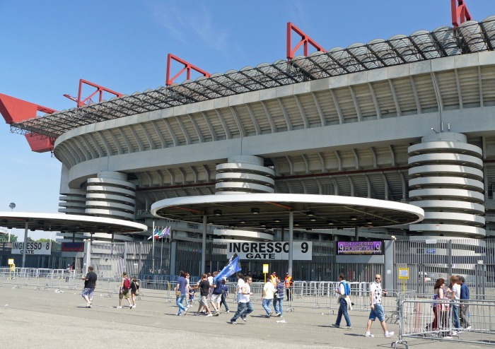 View of Milan's San Siro Stadium