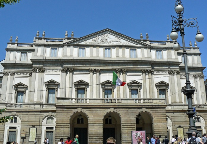 View of the famous La Scala Theater in Milan