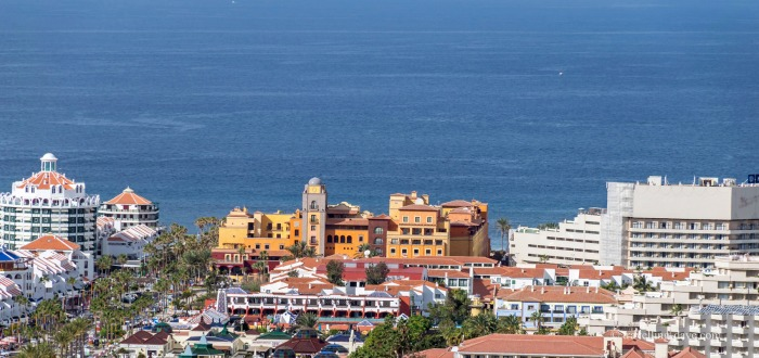 Hotels and apartment blocks in Tenerife