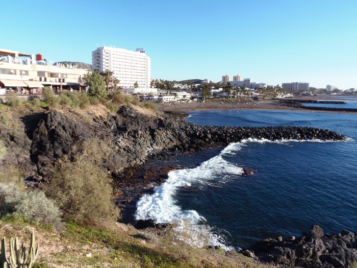 The coast at Playa de Las Americas