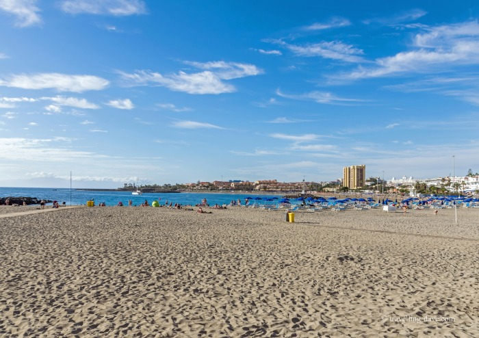 View of Las Vistas Beach in Tenerife