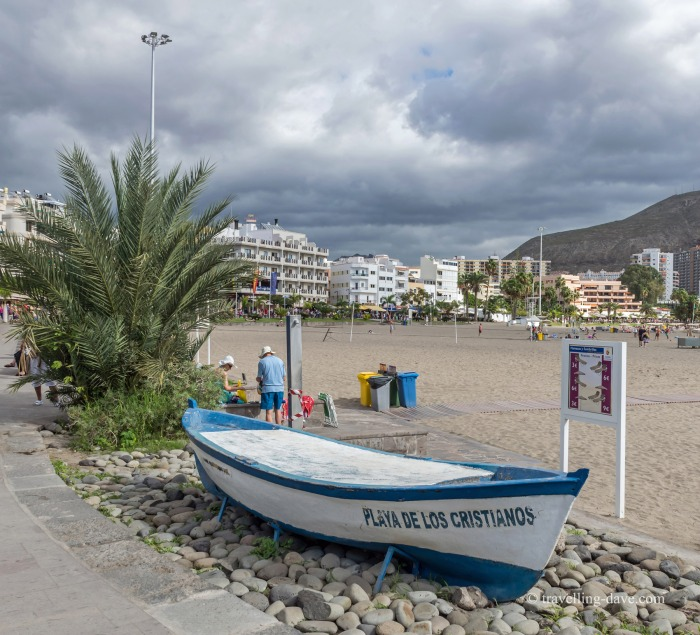 Boat by the beach in Los Cristianos