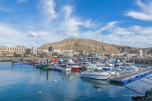 Boats in the harbour in Los Cristianos