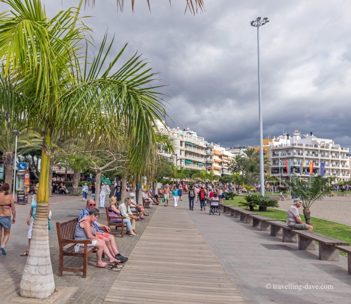 The boardwalk at Los Cristianos