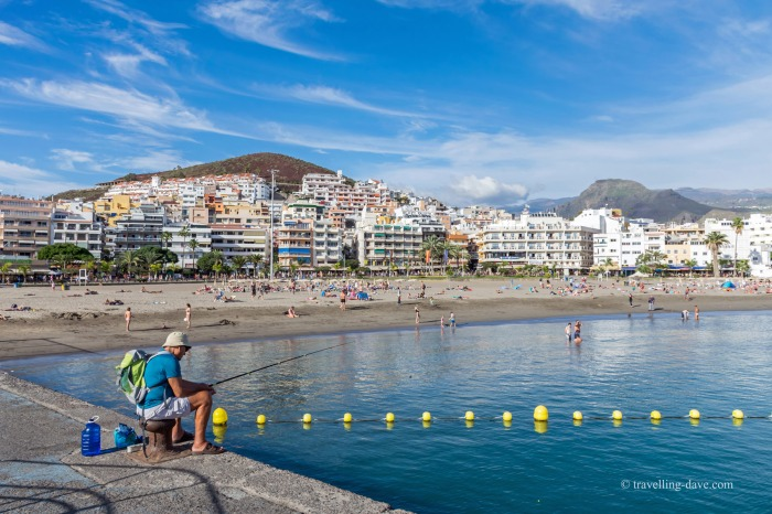 View of the village of Los Cristianos