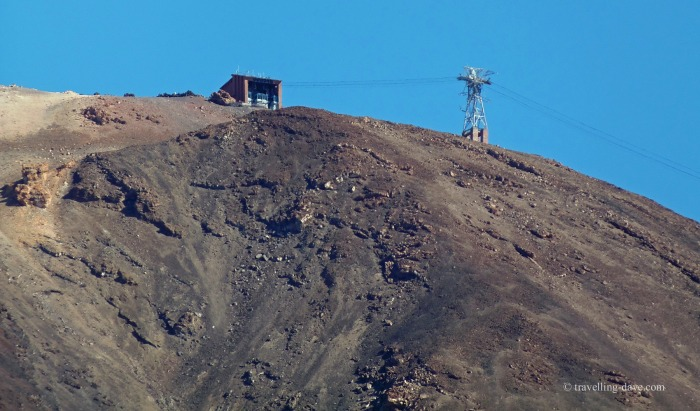 View of the upper station of the Teide cable car