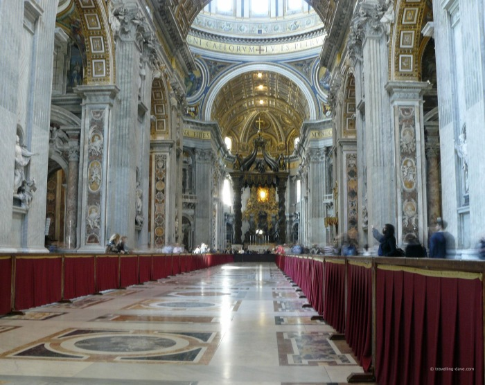 View from inside St.Peter's Basilica