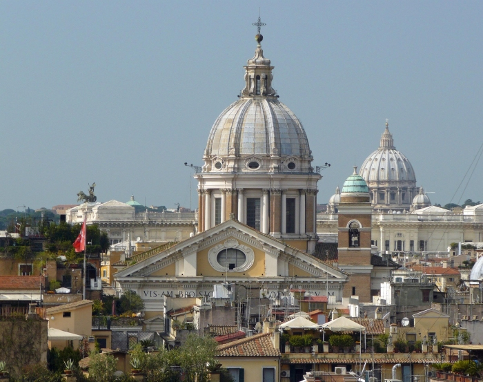 Panoramic view of some of Rome's churches