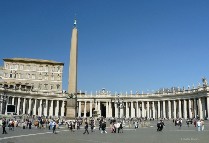 View of the colonnade at St.Peter's Square