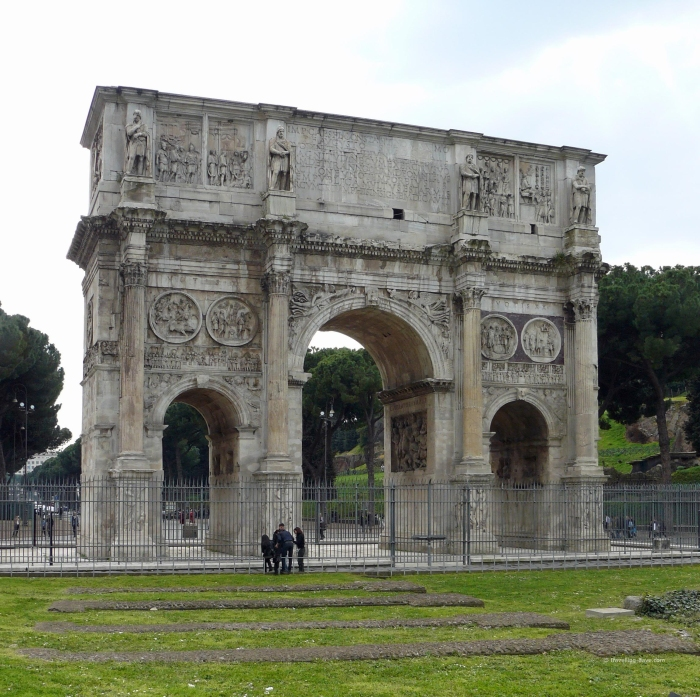 View of the Constantine Arch