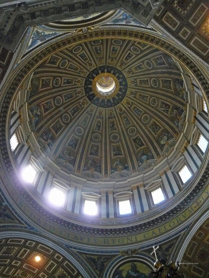 Light filtering through the dome at St.Peter's Basilica