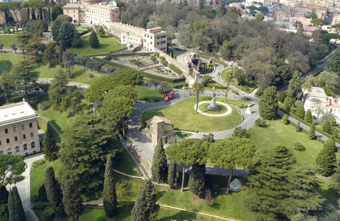 View of the Vatican Gardens