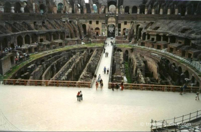 View of the stage at the Colosseum