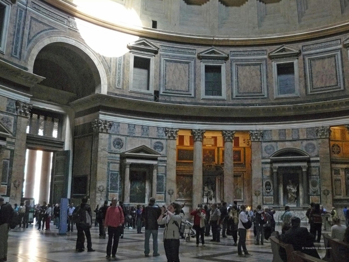 People inside the Pantheon in Rome