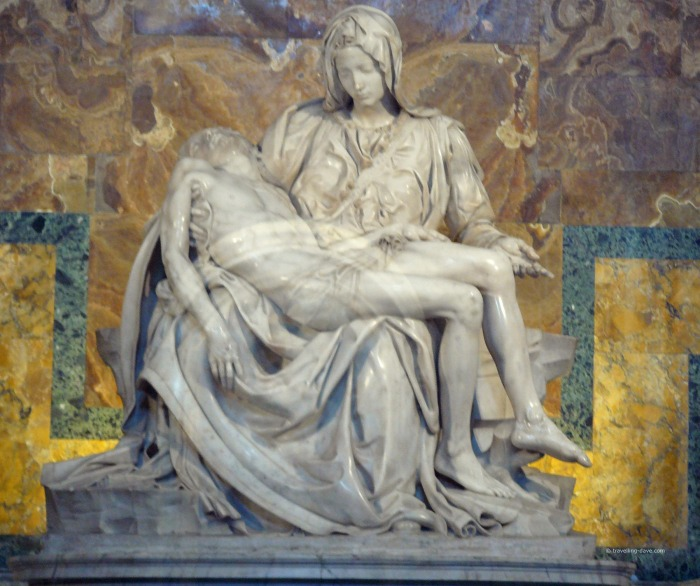 View of the famous sculpture La Pieta'