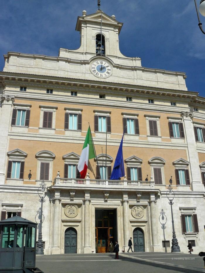 View of Palazzo Montecitorio in Rome