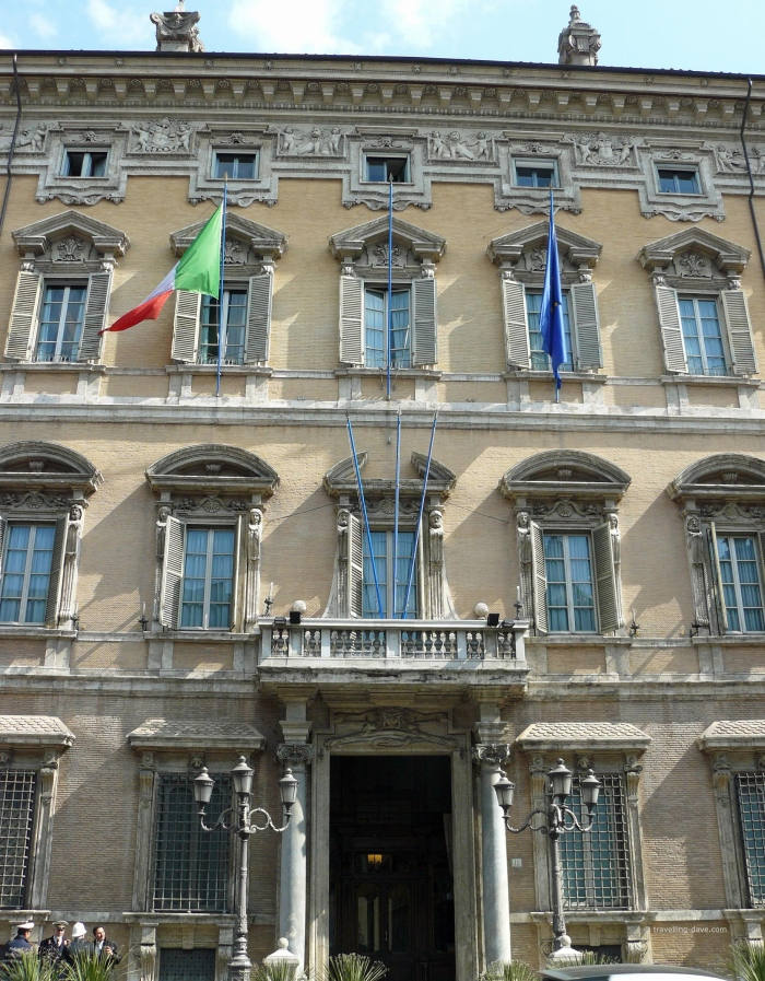View of Palazzo Madama in Rome