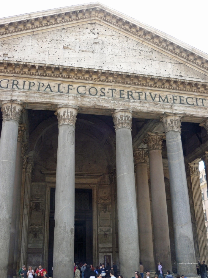 Entrance to the Pantheon in Rome