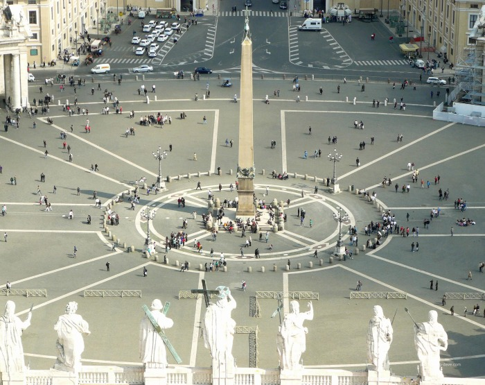View of St.Peter's Square from the dome