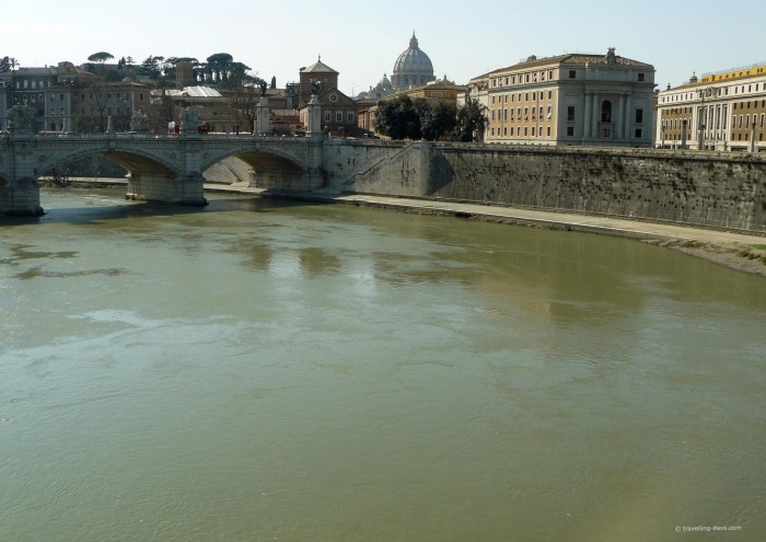 View of the river Tiber in Rome