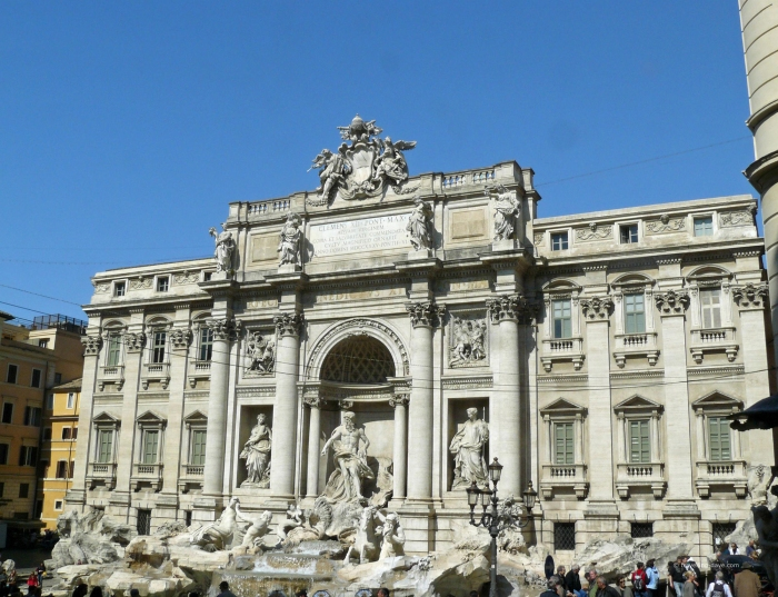 View of the Trevi Fountain in Rome
