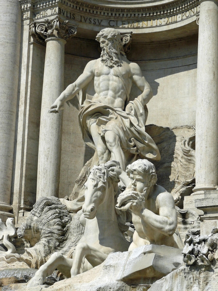 One of the Trevi Fountain's statues