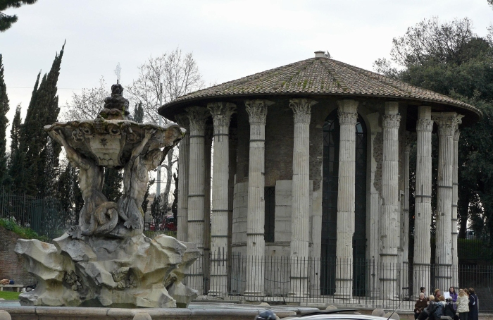View of Rome's Vesta Temple