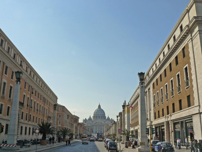 View of Via della Conciliazione in Rome