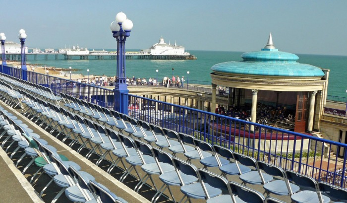 View of seats at Eastbourne Bandstand