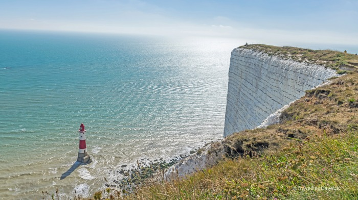 View of the white cliffs at Beachy Head