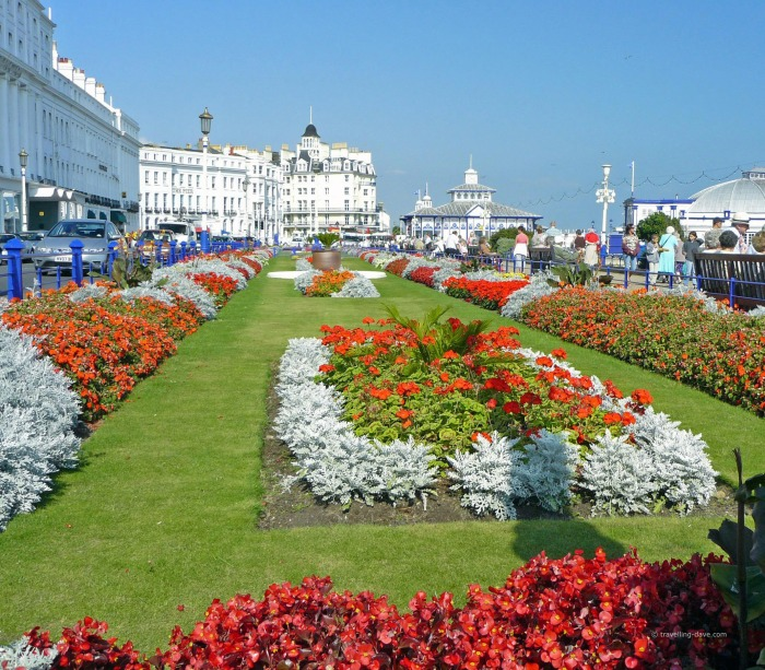View of Eastbourne Carpet Gardens
