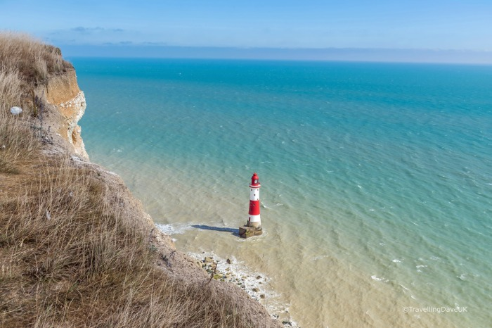 View of the cliffs and the lighthouse at Beachy Head