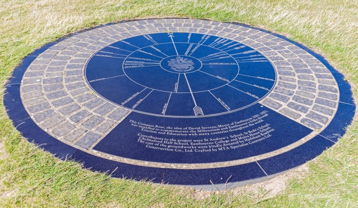 View of Beachy Head Compass Rose