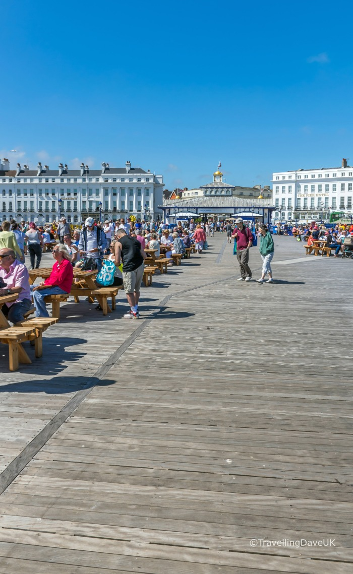 View of the wooden promenade on Eastbourne Pier