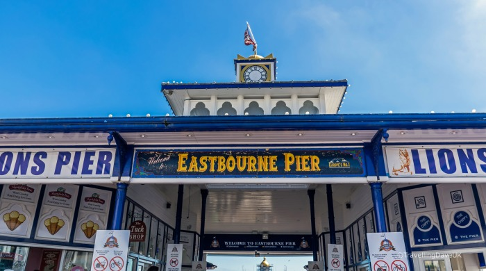View of the entrance to Eastbourne Pier