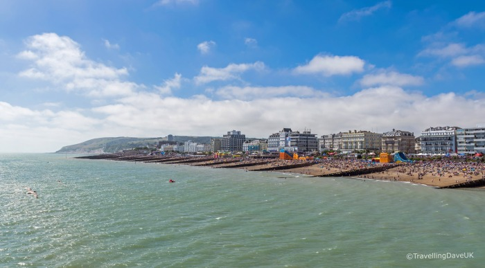 Panoramic view from Eastbourne Pier