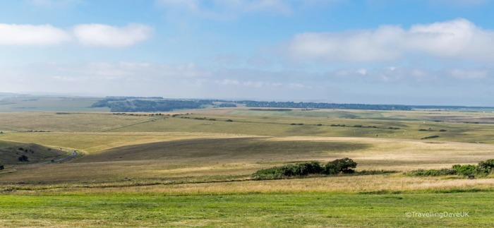Panoramic view of the South Downs