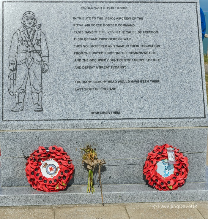 View of the war memorial at Beachy Head near Eastbourne