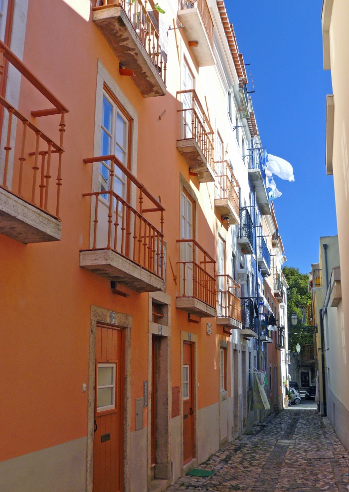 One of the Alfama District narrow street
