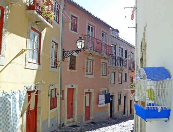 Alfama colorful houses in Lisbon