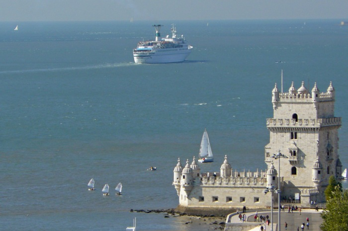 Belem Tower and river Tagus