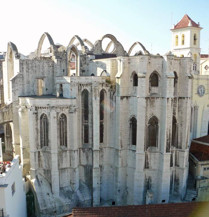 View of Lisbon Carmo Convent