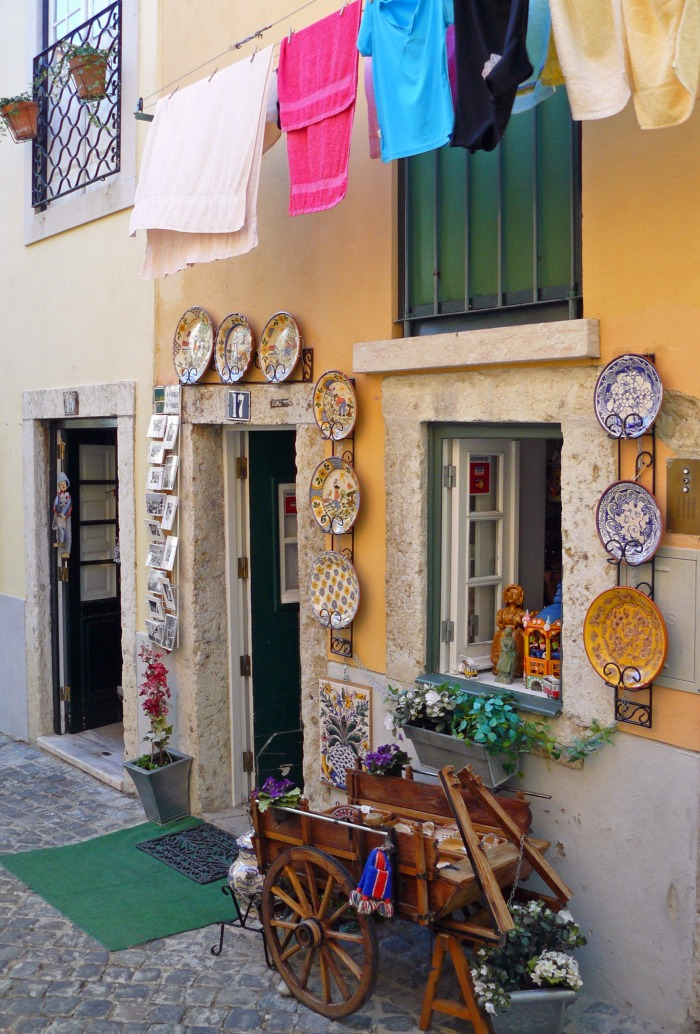 One of Lisbon ceramic shops