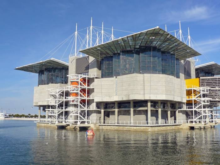 View of Lisbon's Oceanarium