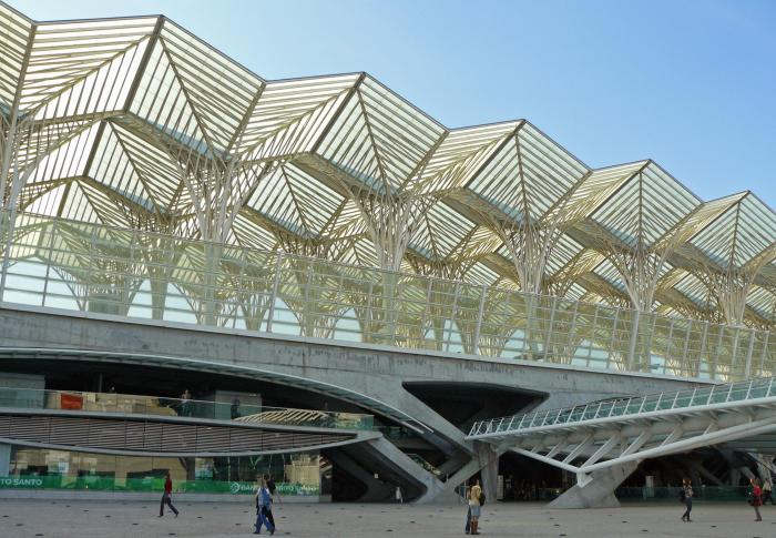 View of Lisbon Oriente Station